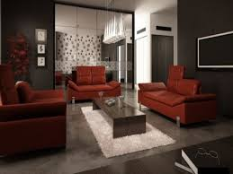 home design 16 room red sofa carpet background wall in
