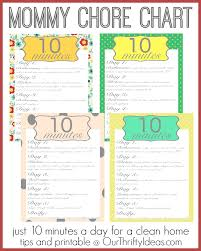 cleaning ideas mom s chore chart a clean home in just 10 minutes a day our