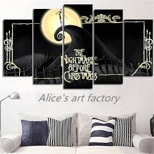 5piece wall painting posters pictures nightmare before