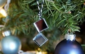 mirror tile tree ornaments a charming project