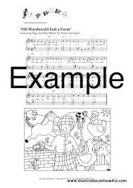 nursery rhyme sheet music colouring pages