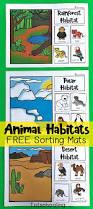 animal habitats sorting mats totschooling toddler preschool