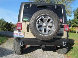 jeep comanche spare tire carrier rock hard 4x4 u0026 8482 aluminum patriot series rear bumper w o tire