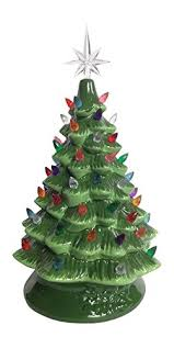 lighted tabletop ceramic tree with led bulb large