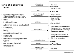 Business Letter Template Closing Parts Of A Business Letter 9 Basic And Miscellaneous Parts Of