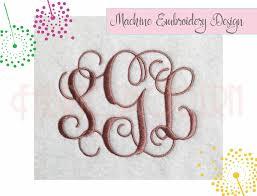 3 letter monogram vine interlocking monogram embroidery font vine monogram 2 and