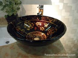 2017 hand painted glass basin glass washbasins glass stage basin