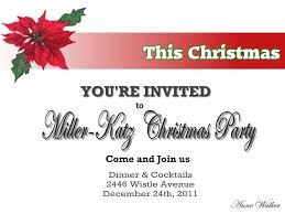 contemporary you are christmas party invitation ideas with black