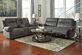Recliner Living Room Set Signature Design By Austere Gray Reclining Living Room Set