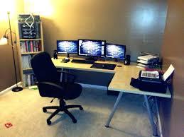 Z Line Belaire Glass L Shaped Computer Desk Wonderfull L Shape Computer Desk Photos Trumpdis Co