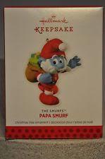 hallmark papa smurf ornament ebay
