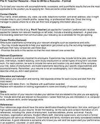Resume Jobs by Pre K Teacher Resume Best Resume Collection