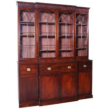 Narrow Mahogany Bookcase by 18th C English George Iii Flame Mahogany Bookcase With Butlers