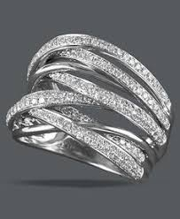 rings bands diamonds images Luxe antique eternity diamond ring stack 1 ct tw in 18k white jpg