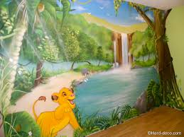 chambre jungle enfant décoration mural pour chambre d enfant roi dans la jungle