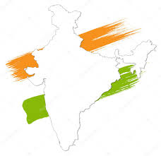 India Map World by India Map Isolated On Colorful Background U2014 Stock Vector Baavli