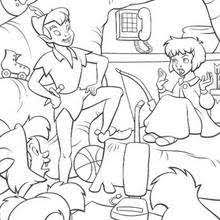 lost boys wendy coloring pages hellokids