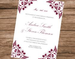 wedding invitations burgundy burgundy invitation etsy