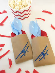 airplane baby shower decorations cutlery bags pilot airplane party vintage airplane