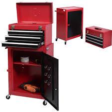 2pc mini tool chest u0026 cabinet storage box rolling garage toolbox