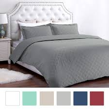 Microfiber Duvet Cover Queen Bedsure Holloway Diamond Pattern Duvet Cover Walmart Com