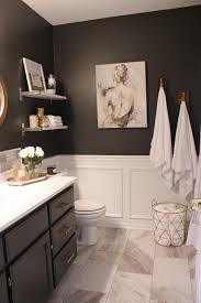 One Room Challenge Fall  My Favorite Spaces Gray Vanity - Elegant white cabinet bathroom ideas house