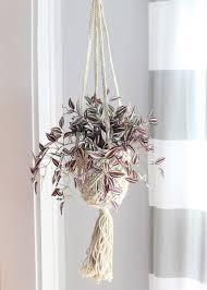 ivory jute macrame plant hanger trending home decor afloral com decorative jute macrame hanging basket in