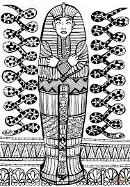 sarcophagus of pharaoh coloring page free printable coloring pages