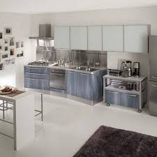 Kitchen Cabinets Metal Marvelous Small Industrial Kitchen Design For Home Depot With