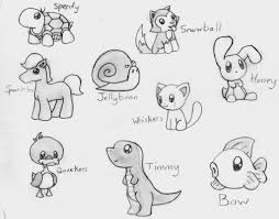 drawn animal cute pencil and in color drawn animal cute