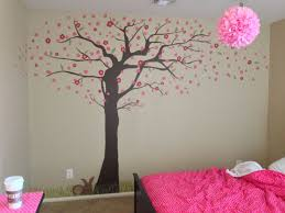 custom made cherry blossom tree mural by kid murals by