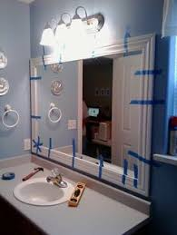 Framing An Existing Bathroom Mirror How To Frame Out That Builder Basic Bathroom Mirror For 20 Or