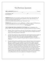 standard confidentiality agreement back 11 nondisclosure