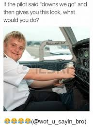Downs Memes - if the pilot said downs we go and then gives you this look what