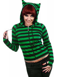 Hoodie With Thumb Holes Womens Banned Apparel Women U0027s Cat Ears Zip Up Hoodie