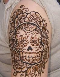 skull henna tattoo tattoos pinterest