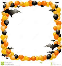 halloween borders transparent background halloween balloon frame stock photos image 10567033