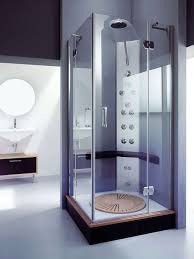 high end corner shower stall for amazing small bathroom design