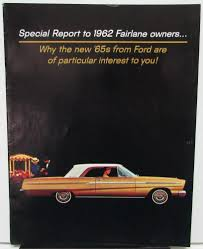 ford full line brochure sent to 1962 fairlane owners mustang galaxie