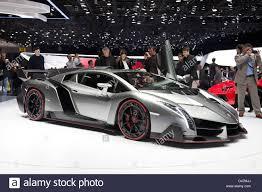 Lamborghini Veneno Engine - lamborghini veneno geneva motor show stock photo royalty free