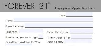 Gas Station Cashier Job Description For Resume by Forever 21 Application Employment Form U0026 Job Interview Tips