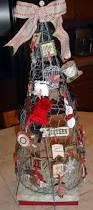 tomato cage with chicken wire shaped into a tree for craft fair