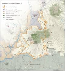 Map Of Utah National Parks by The Bears Ears Cultural Landscape
