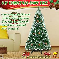 amazon com strong camel 5 u0027 green snow tipped christmas tree with
