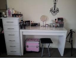 Glass Makeup Vanity Table Furniture Nice Makeup Vanity Ikea White Makeup Vanity Ikea