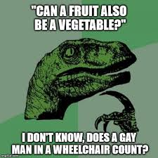 Vegetable Meme - philosoraptor meme imgflip