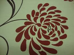 Colourful Roller Blind Bathroom Chrysanthamum Red Blackout Roller Blind