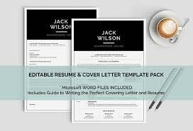 Minimalist Resume Modern Man Resume Template Mac Or Pc Minimalist Resume 1 Page