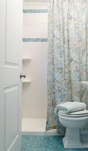 Traditional Vanity Lights Chicago Bathroom Shower Curtains Beach Style With Blue Glass Tiles