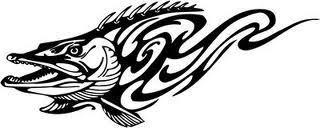 wonderful black tribal fish design
